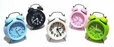 Retro Glockenwecker Wecker Alarm Analog Quartz Reisewecker Uhr Kinderwecker