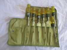 VINTAGE STANLEY SET OF 7  NO 60 CHISELS IN CANVAS ROLL