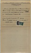 RSI-25c(505) uso fiscale-Ricevuta della cassa di risparmio Ferrara Luglio 1945