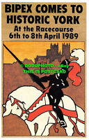 R529151 Bipex comes to Historic York. At the Racecourse. 1989. Postcard Traders