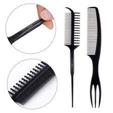 2pcs Anti-static Styling Salon Black Comb Hair Highlight Weave Dye Tool Kit