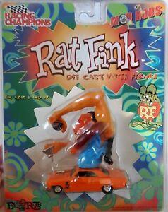 RAT FINK DIE CAST CAR W/FIGURE RACING CHAMPIONS 1/64 R.F. MOD RODS CHEVY NOVA