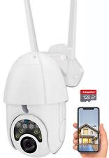 Waterproof Outdoor WiFi PTZ 1080P HD Home Security Wireless IP CCTV IR Camera US