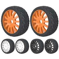 Wheel Rim Hub Tires Rubber Tyres for 1/8 On-road Racing RC Car Accessory