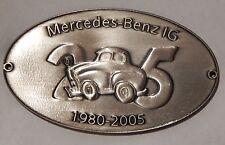 Plakette zum 25 jährigen Jubiläum der MBIG 2005  W120 W121 W128 W110