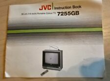 JVC 7255GB 14 Inch Portable Colour Television Instruction Book Manual