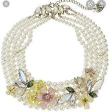 $165 Betsey Johnson Luminous Pearl Statement Necklace BSS210