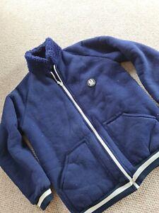 Mens Belstaff Blue Fleece Size M Full Sip Long Sleeve