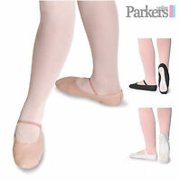 SALE NEW GIRLS LADIES PINK BLACK WHITE LEATHER BALLET SHOES DANCE PUMPS 6C - 11A