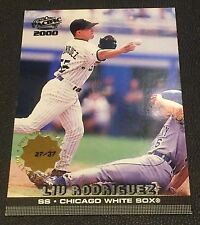 LIU RODRIGUEZ 2000 Pacific PREMIERE DATE  #104 Ser #d /37 W@W Rare SSP White Sox