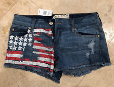 Women's Altar'd State Jeans Shorts Size 27 / 5 GORGEOUS PAINTED on USA Flag NWT