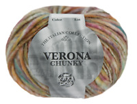 Verona chunky Italian style yarn  6 x 50g yarn ball pack  by king Cole