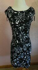 Taboo Womens Dress Size S Black White Floral Tie Shoulder Straps Summer