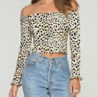 Leopard Cheetah BNWT Gaga Top Motel Size Medium RRP £28 Bargain!
