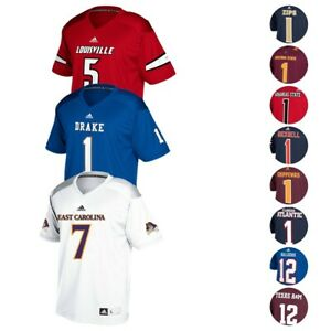 NCAA Adidas Men's Official Football Player Number Replica Jersey Collection