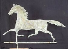 ANTIQUE 19th CENTURY AMERICAN TROTTING HORSE VERDIGRIS COPPER WEATHERVANE