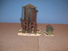 Model Power HO Water Tank with Shed. Custom Built, Weathered & Detailed