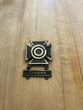 WW2 PERIOD STERLING SILVER ARMY SHARPSHOOTER BADGE WITH CARBINE BAR