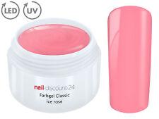 Color UV Gel LED FARBGEL ICE ROSE French Modellage NailArt Design Nagel Rosa Tip