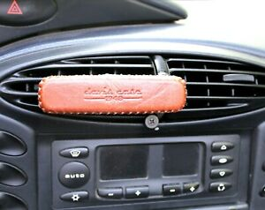 Genuine leather phone cover handmade Strong magnetic car holder air vent Mobile