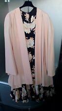 Abito in seta nero e rosa/dress woman silk/damen kleid seide