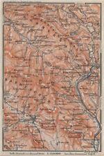 FORESTA Bavarese/Bohémien bayrischer/Böhmerwald. bodenmais zelezna Ruda 1910 Mappa