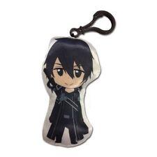 NEW Sword Art Online * Kirito Plush Key Chain * Clip Anime Manga Keychain Ring
