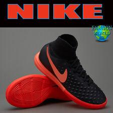 Nike Men'S 10 Magistax Proximo Ii Ic Indoor Soccer Shoes Black-Orange 843957 084