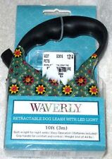 New ! WAVERLY RETRACTABLE 10' Dog Leash W/LED Light, Dog's Up To 44lbs !
