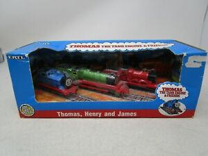 ERTL Thomas The Tank Engine & Friends *THOMAS, HENRY, & JAMES 3-PACK* (NOS)