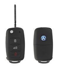 Silicon Case schwarz f VW 3-Tasten Autoschlüssel Key Case Schlüssel Hülle Cover