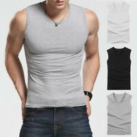 Men Compression Sleeveless Shirt Sports Fitness Body Building slim Vest Tank Top
