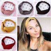 Girls Hair Accessories Knotted Stretch Hair Band Turban Elastic Print Headband