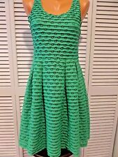 NWT Alythea Women's Dress Vivid Clover Green Eyelets Learn the Yard Way Sz L