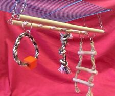 Small Animal Toy Climb Rope Ladder Hamster Rat Mouse Ferret Gerbil 31 cm X 25 cm