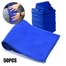 50pack Soft Microfiber Towel Car Cleaning Wash Clean Wax Polishing Cloth 25*25cm