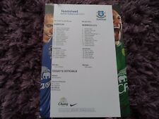2012/13 - EVERTON v NORWICH CITY - FA YOUTH CUP / SINGLE SHEET