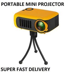 Mini Projector 3D 4K HD 1080P LED Home Theater BUNDLE AV/USB/HDMI/SD EU PLUG
