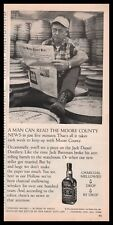1972 JACK DANIELS Whiskey Whisky AD reading Moore County News newspaper