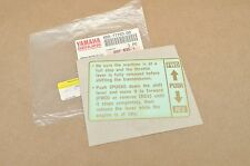 Nos Oem Yamaha 1994 Vmax Vx500 Vx600 Hood Shroud Warning Label Decal Sticker #3