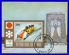 CHAD 1972 WINTER OLYMPICS S/S used LUGE SPORTS