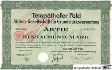 2 HUGE RARE 1895/1911 BONDS 4 TEMPELHOF AIRPORT LAND (#1 NAZI LANDMARK!) CV $400