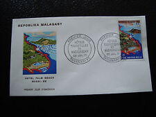MADAGASCAR -enveloppe 23/7/71- hotel palm beach nossi be - yt n° 490 -(cy4)(E