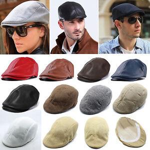 Mens Cabbie Hat Peaky Blinders Newsboy Flat Cap Baker Boy Hats Driving Holiday