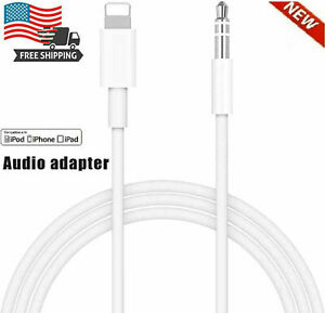 3.5mm AUX Audio Car Adapter Auxiliary Cable Cord For iPhone 11 Pro Max 8 7 Plus