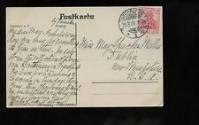 Germany PPC Picture Postcard (Ariadne Statue) 1908 Wiesbaden to Dublin, NH