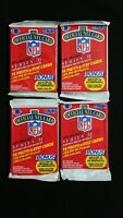 1989 Pro Set Football Series 2 Pack 4 Pack Lot