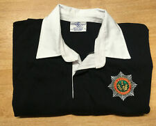 Rugby Shirt Navy Blue XL,  Embroidered Cheshire Regt Badge, short sleeves, new
