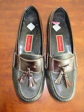Men's Cole Haan Leather Tassel Loafers Shoes Sz 10 D Black & Brown