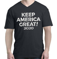 Keep America Great ! 2020 Men V-Neck Donald Trump Political Shirts